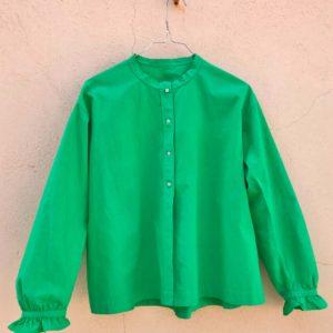 Vintage shirt mandarin collar